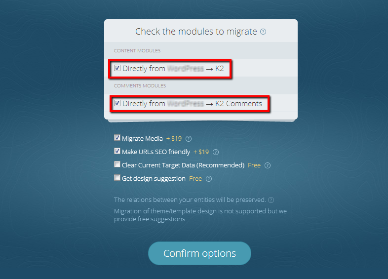 Joomla Migration Modules