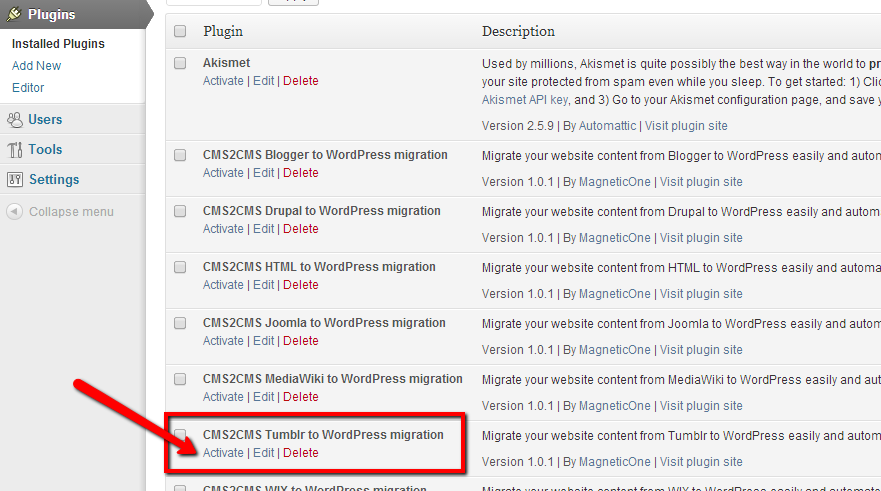 Tumblr to WordPress Migration
