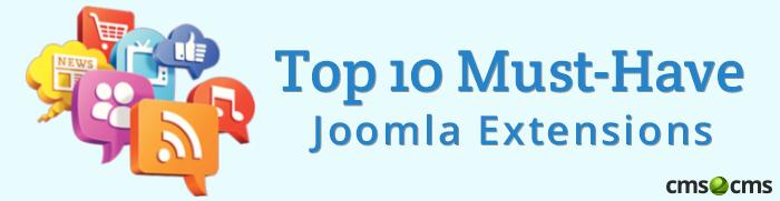 top 10 Joomla extensions