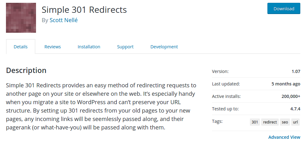 "How does ""301 Redirects"" option work when migrating to WordPress?"