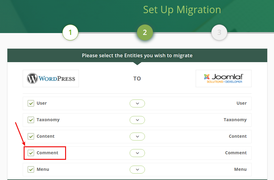 What should I do to migrate my comments to Joomla CMS?