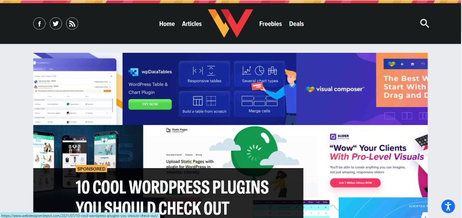 Web Designer Depot is great to level up your skills in design, programming, UX and accessibility