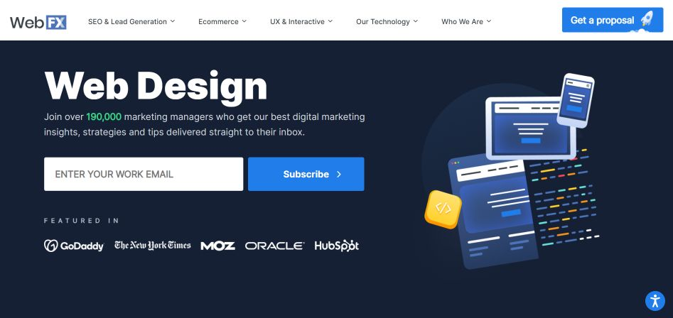 WebFX is great for marketers and web professionals