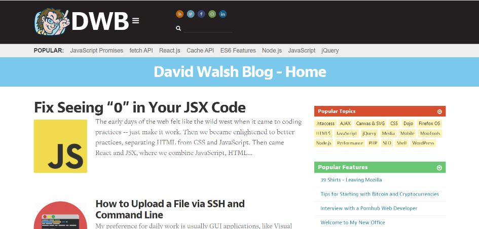 David Walsh Blog To Learn About Programming