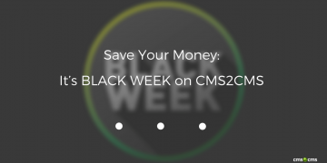 Save Your Money: It's BLACK WEEK on CMS2CMS