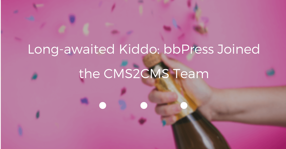 Long-awaited Kiddo: bbPress Joined the CMS2CMS Team