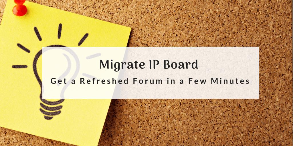 migrate ip board