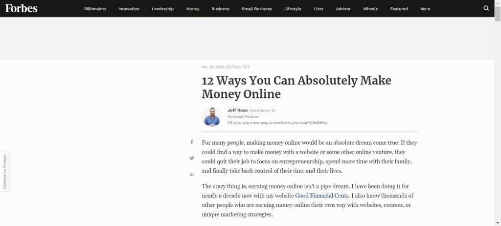 ways to make online